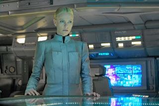 Charlize Theron in Prometheus movie wearing uniform