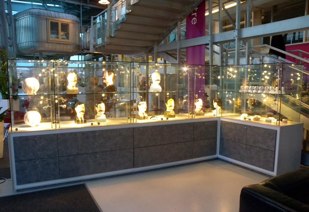 KAren Thompson, Ceramics. National Glass Centre, Sunderland. Tureen Heads