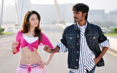 Dhanush and Tammanna in Vengai hot stills