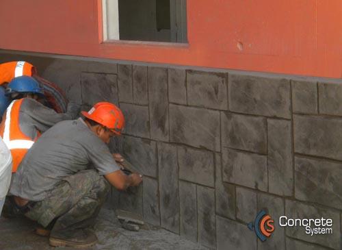Concrete system concreto decorativo para pisos y muros - Cemento decorativo para paredes ...