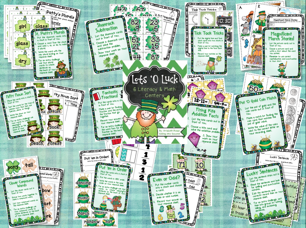 http://www.teacherspayteachers.com/Product/Lots-O-Luck-March-Themed-Centers-Activities-Common-Core-546238