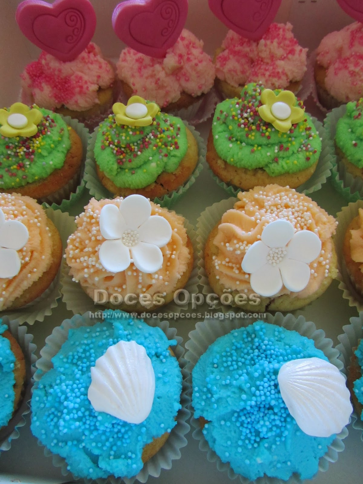Cupcakes primavera bragança