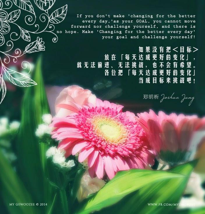 郑明析,摄理,月明洞,花,变化,希望,挑战,Joshua Jung, Providence, Wolmyeong Dong, Flower, changing, challenge, hope