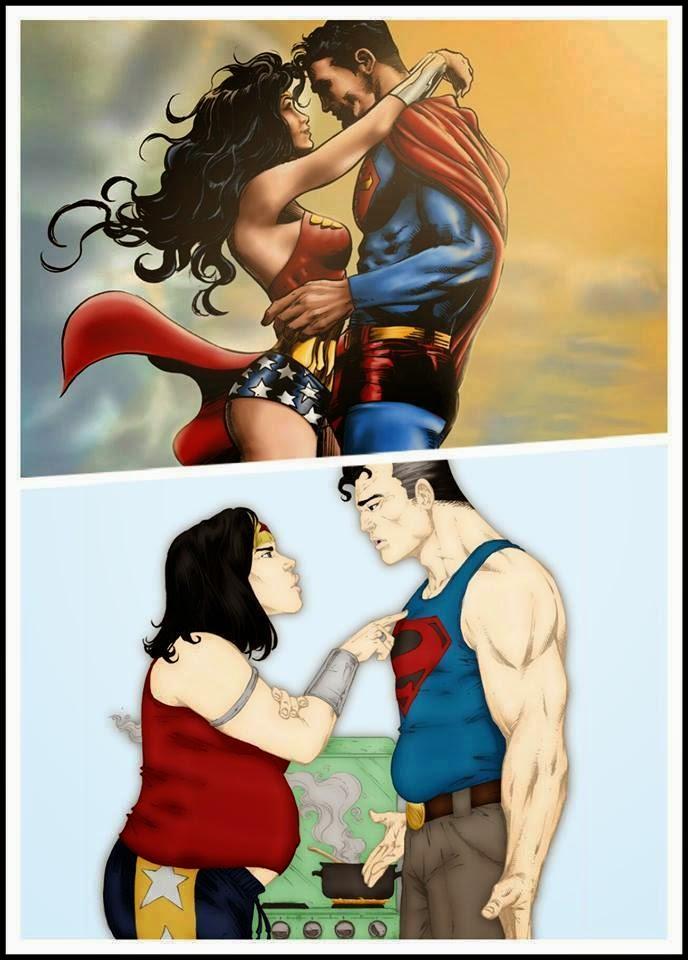 Superman y la Mujer Maravilla después del matrimonio