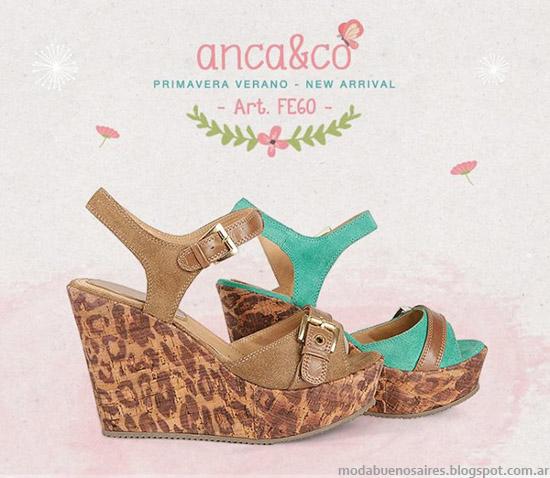 Sandalias 2014 Anca & Co primavera verano 2014. Moda 2014.