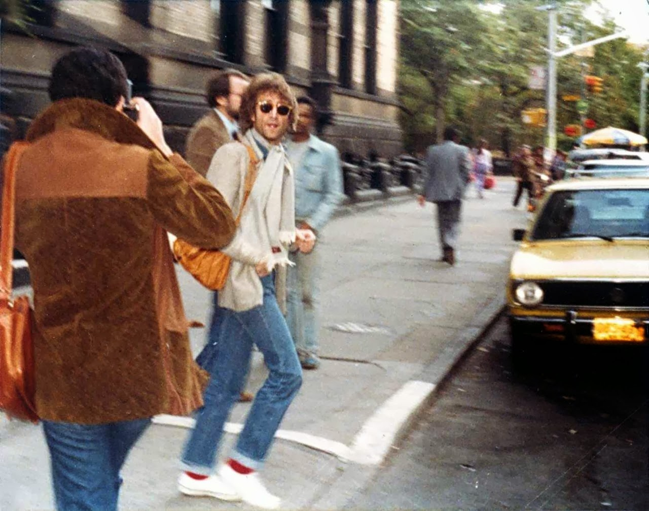 John Lennon Photographed Leaving The Dakota On October