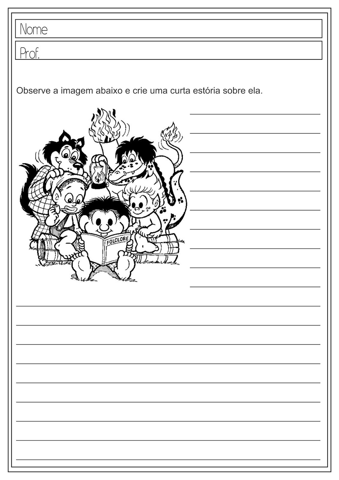 Atividades Educativas Produção de Texto - Folclore para Ensino Fundamental