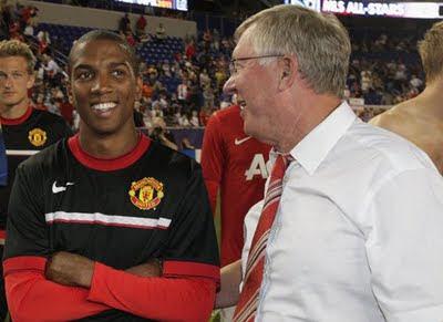 Ashley Young Sir Alex Ferguson Man Utd Tour USA