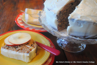 Apple Butter Cake with Maple Frosting