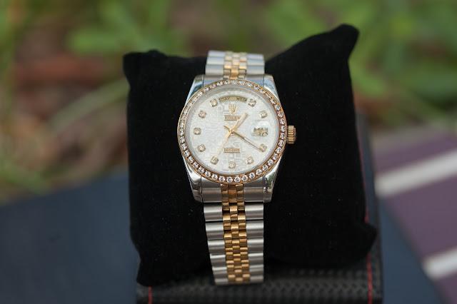 Đồng hồ đeo tay nam dây inox cao cấp đẹp giá rẻ Rolex