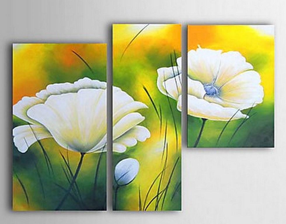 Serie de Cuadros al Óleo de Flores Grandesy Modernas