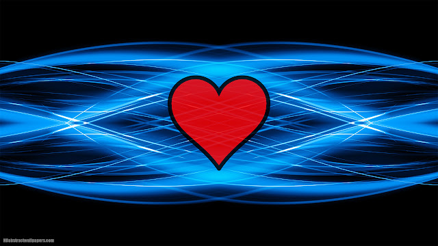 Black blue abstract backgroudn with red love heart