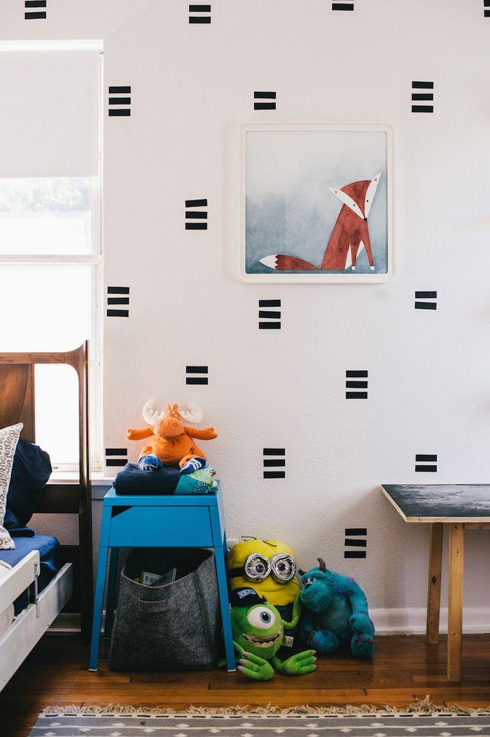 Decorando paredes com fita isolante Reciclar e Decorar Blog de Decoraç u00e3o e Reciclagem # Decorar Parede Com Fita Adesiva