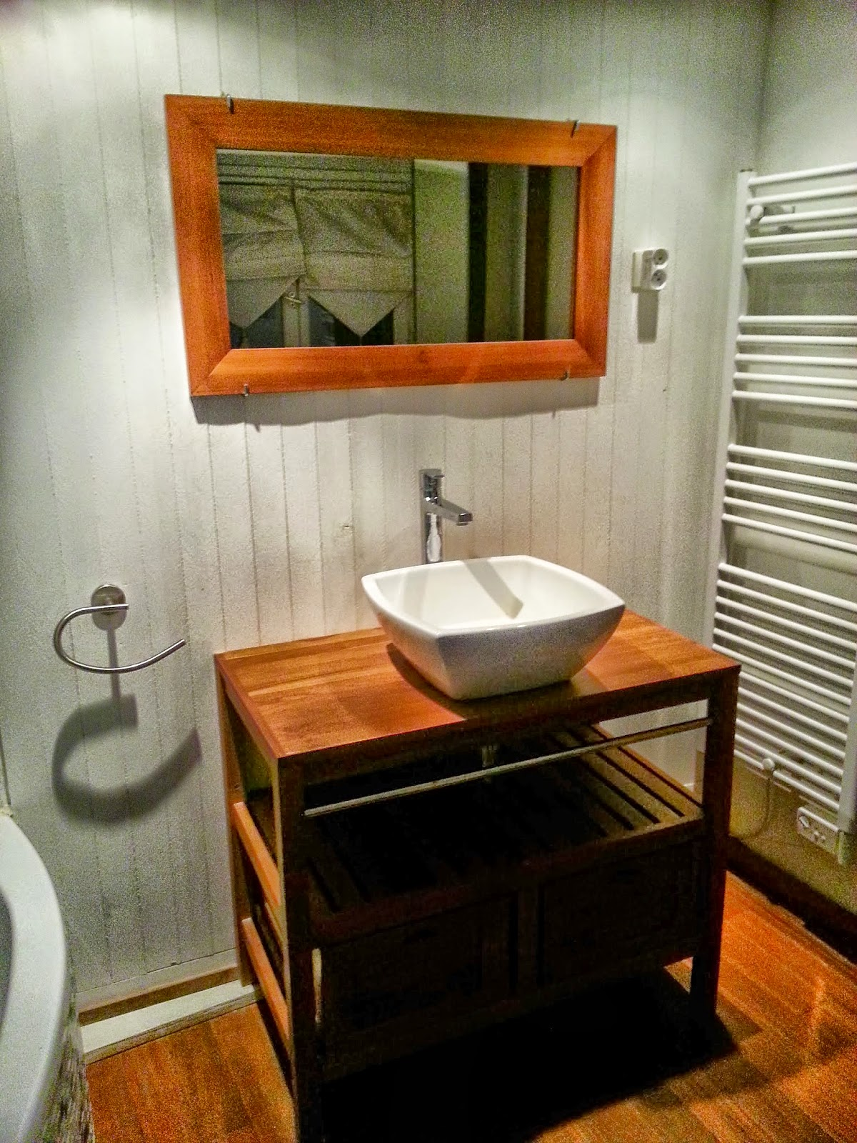 lavabo meuble en bois