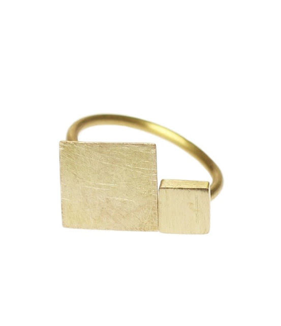 Large & Small Square Ring from Pilz Schmuck, Hong Kong