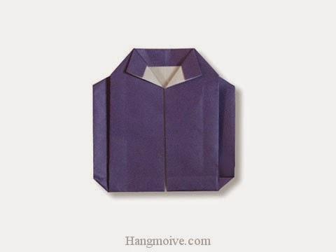 Cách gấp, xếp áo khoác jacket bằng giấy origami - Video hướng dẫn xếp hình quần áo - How to fold a Jacket
