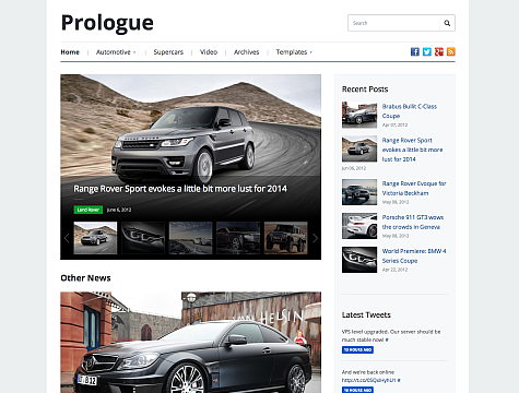 Prologue v1.0 WpZoom Premium Wordpress Theme