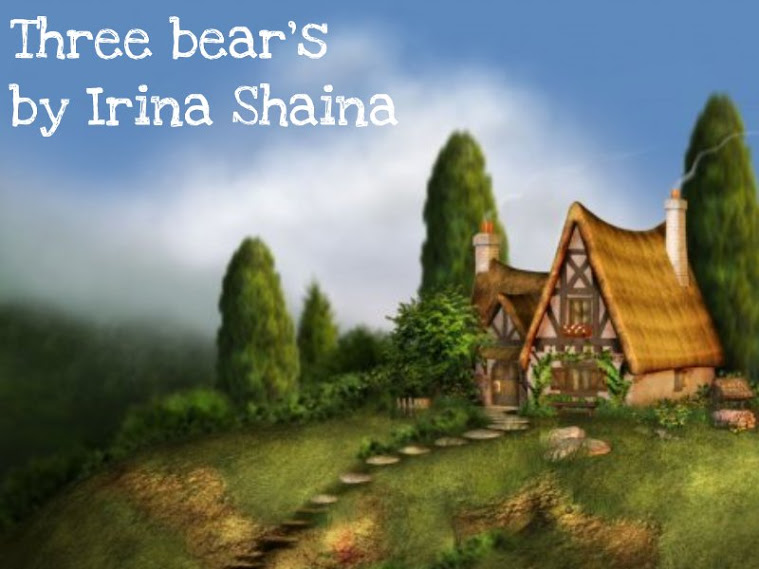 Three bears by Irina Shaina