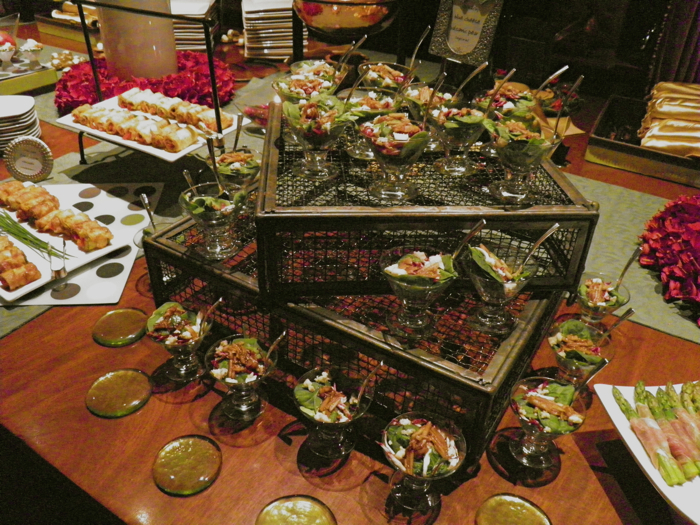 Cuisinetc a culinary journey via catering corporate and for Canape display stands