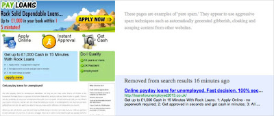 Pay Day Loan Spam By Google