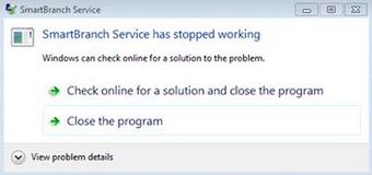 "Solusi Error Smart Billing Server ""stopped working, cannot start SmartBranch"""