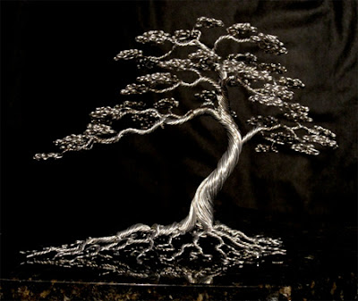 Beautiful tree sculptures made out of wires- 12 Images