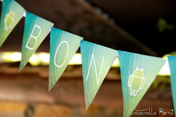bannière kit décoration android / android party kit banner