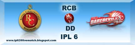 Royal Challengers Bangalore vs Delhi Daredevils Live Match and Records