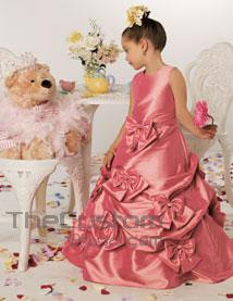 Princess+Floor-length+Taffeta+Flower+Girl+Dresses