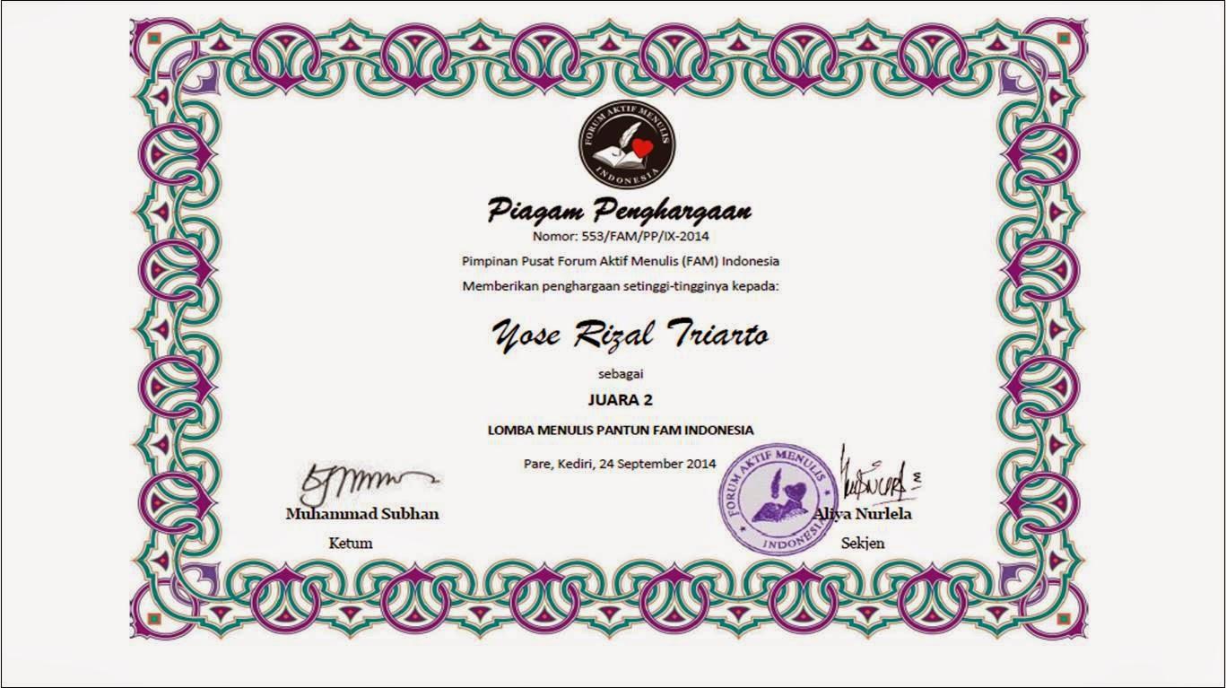 FAM Indonesia Lomba Menulis Pantun Nasional
