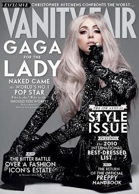 LADY GAGA VANITY FAIR MAGAZINE COVER WEARING BLACK