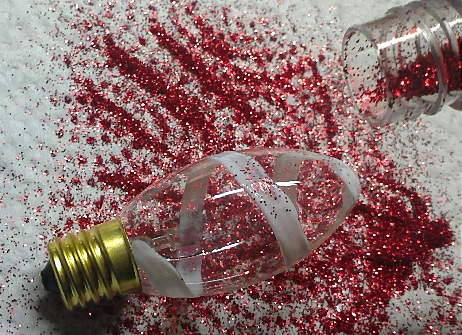2MESSY: DIY ~ Glitter Swirl Christmas Bulbs