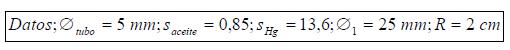 Ejercicio resuelto de estatica de fluidos datos problema 3