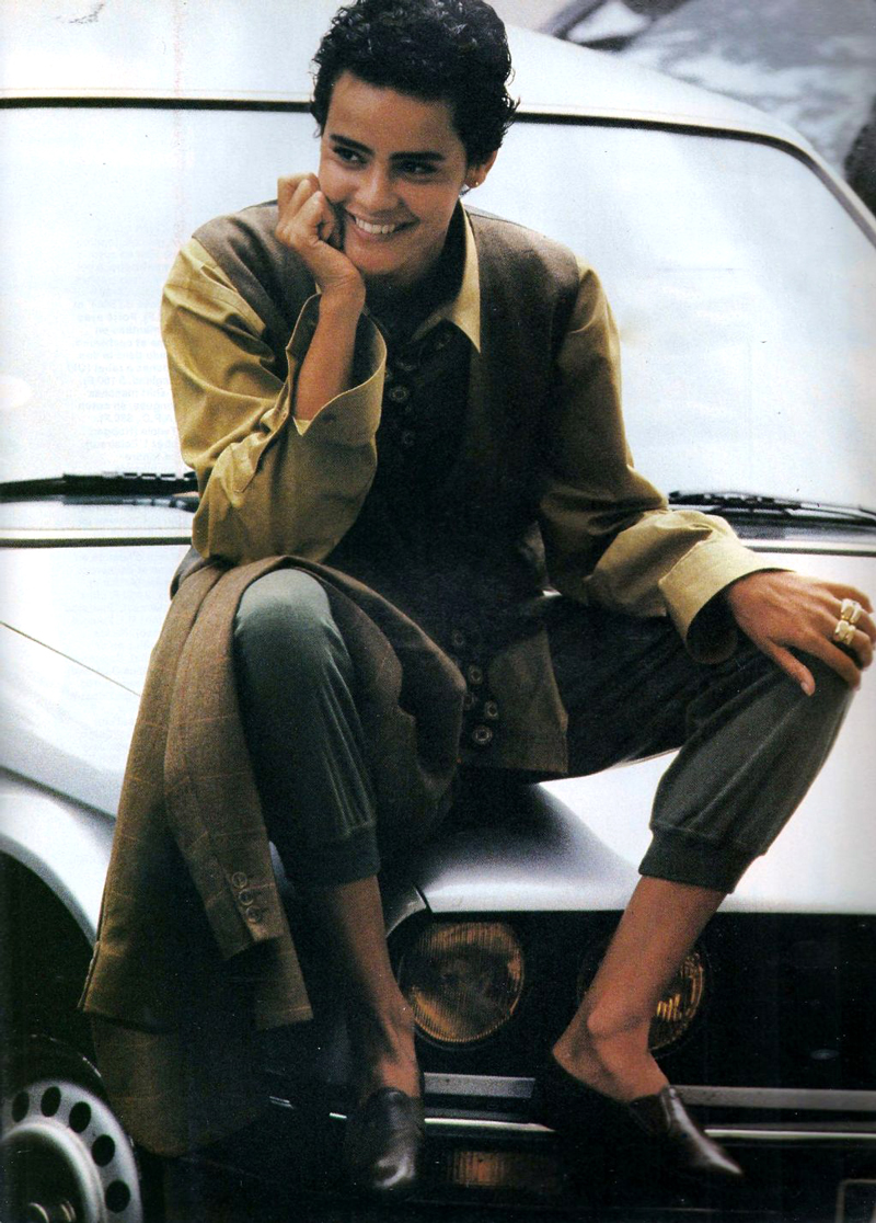 Nadege du Bospertus by Marc Hispard for Elle France 1993 via fashioned by love british fashion blog