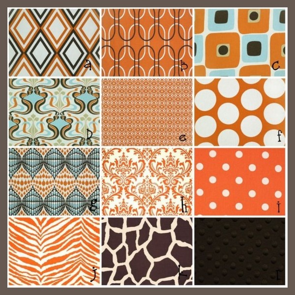 custom nursery art by kimberly cool nursery color orange. Black Bedroom Furniture Sets. Home Design Ideas