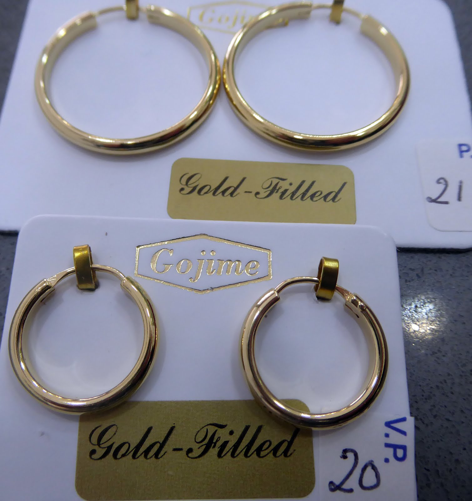 Pendientes de aro de gold filled
