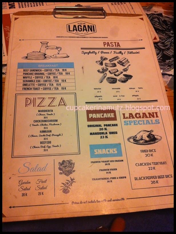 Kuliner jogja lagani coffee and co rina chabbymutz for Z kitchen jogja menu