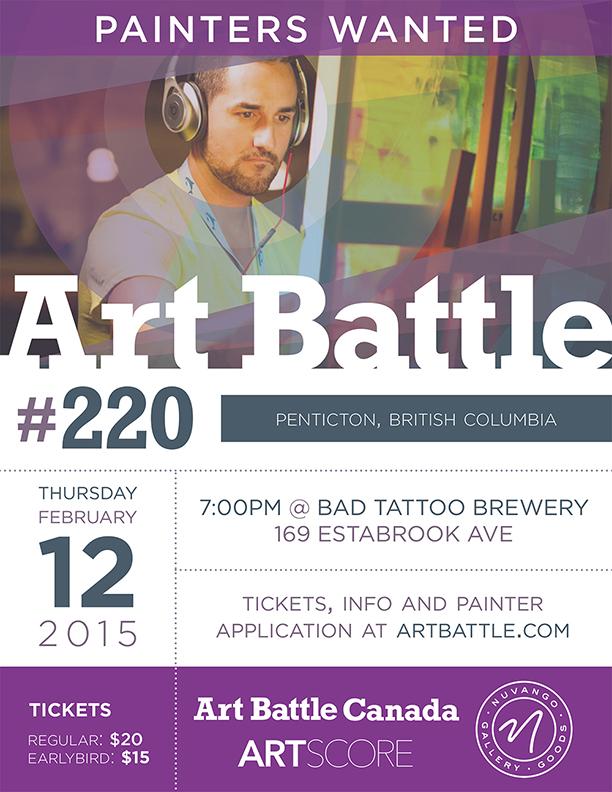 Art Battle Penticton Poster