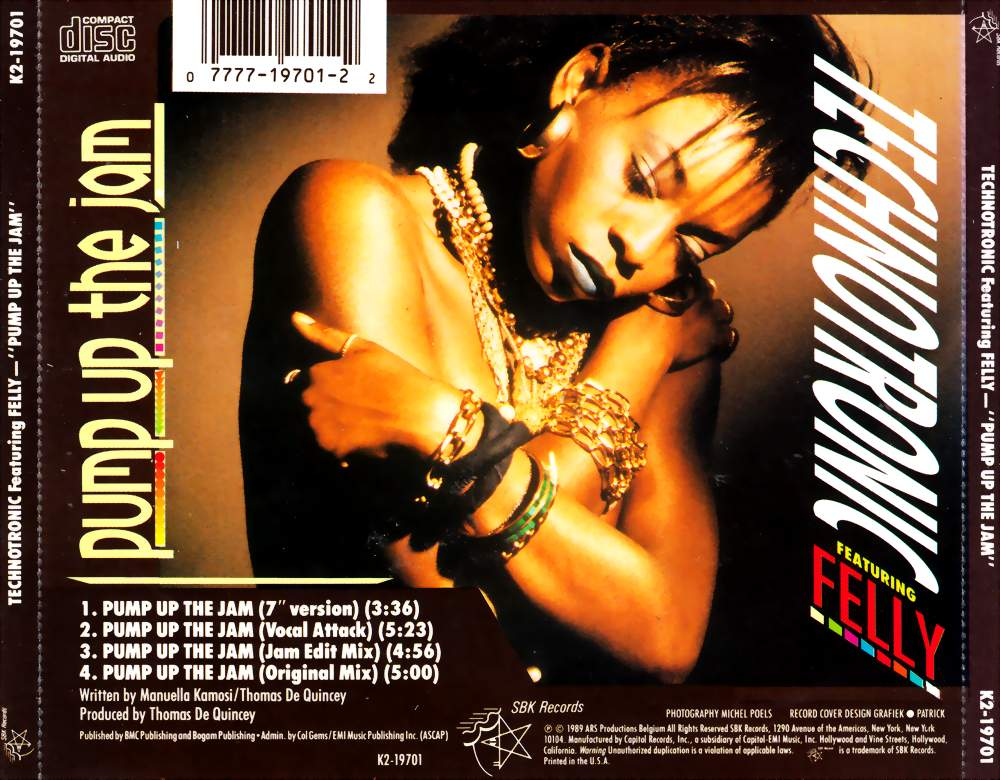 Technotronic - Pump Up The Jam / Get Up! (Before The Night Is Over)