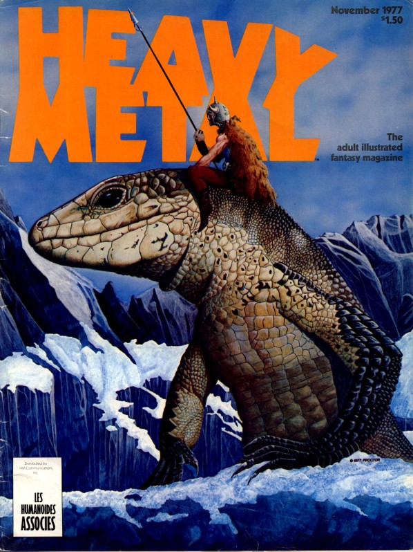 Vintage heavy metal magazines