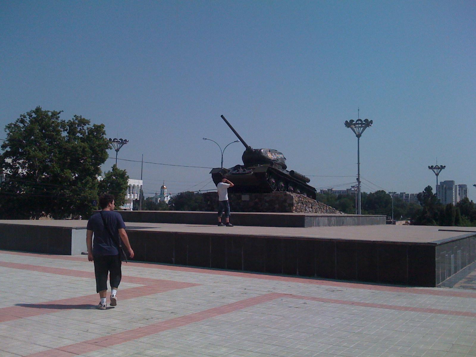 Plaza Principal de Tiraspol, UN TANQUE!!!