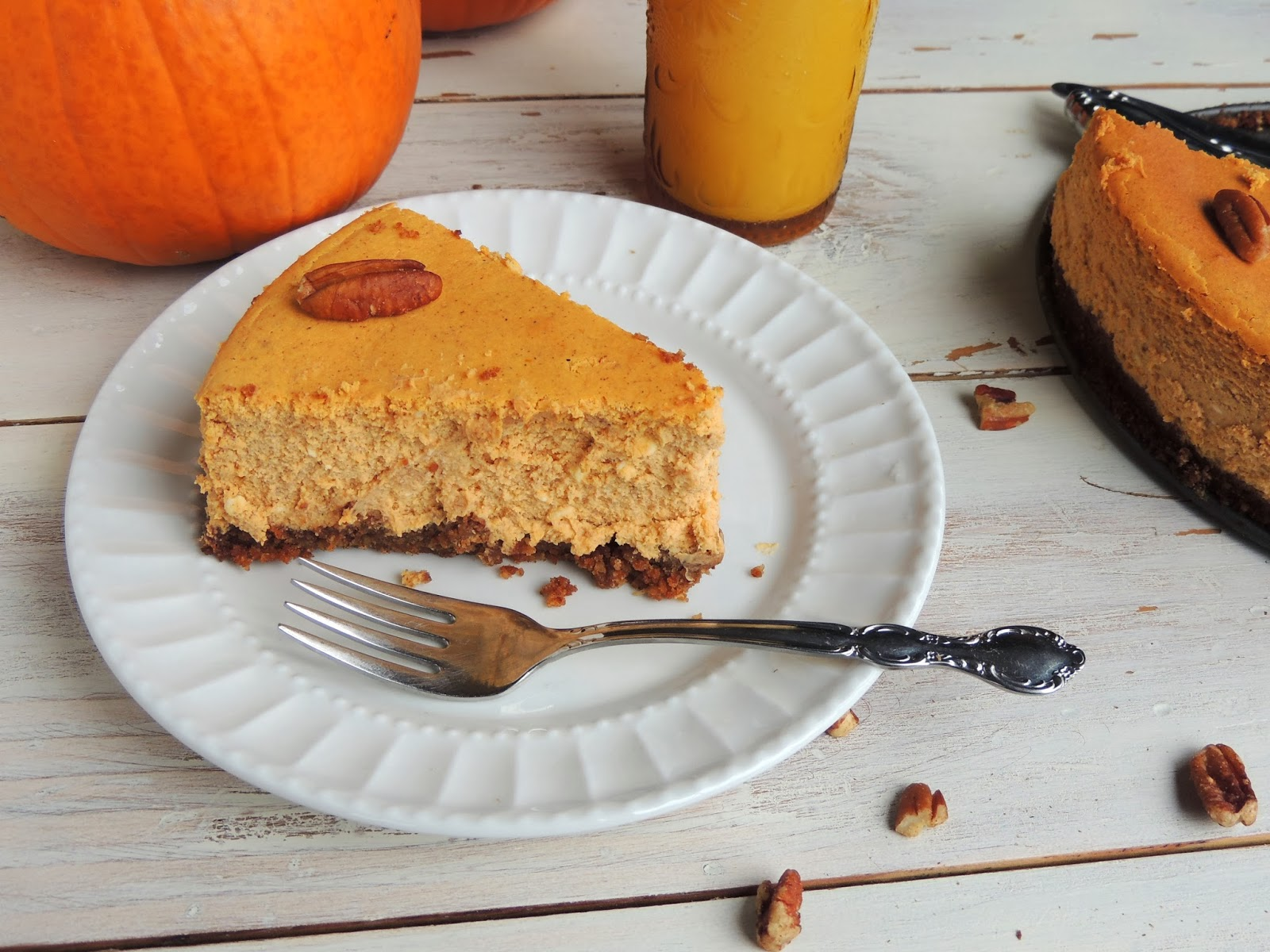 ... Pumpkin Cheesecake with a Pecan Gingersnap Crust and Halloween Rants