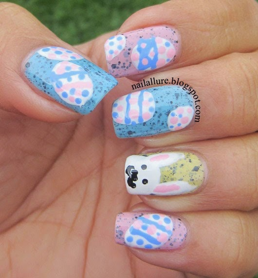 Easter Eggs & Bunny Manicure