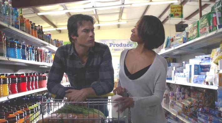 Damon y Bonnie de compras