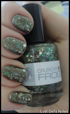 nerd lacquer crunchy frog swatches and review