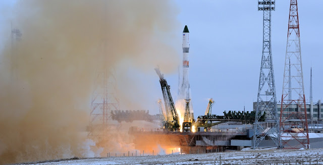 A Soyuz-2.1a launch with the Progress MS-1 spacecraft. Photo credit: RKK Energia