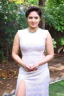 Actress Nikesha Patel  Pictures in Long Dress at Narathan Press Meet  14