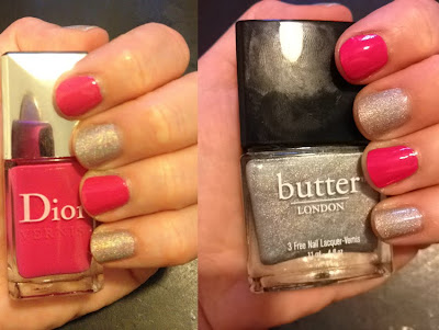 butter LONDON, butter LONDON Dodgy Barnett, Dior, Dior Pink Graffiti, nails, nail polish, nail lacquer, nail varnish, manicure