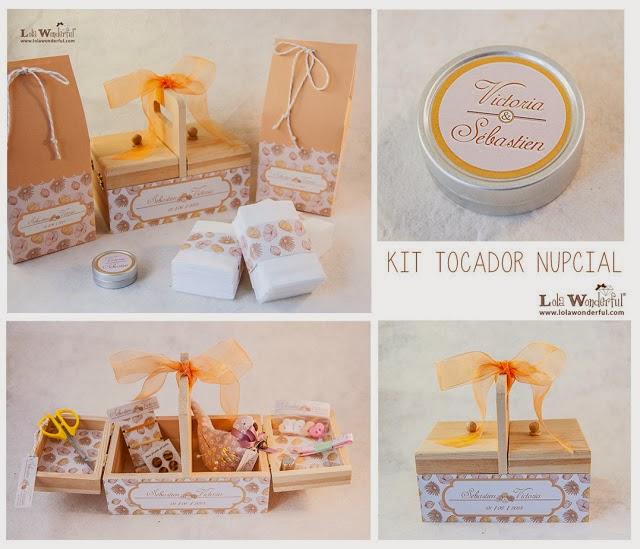 kit tocador nupcial cestibaño personalizado lola wonderful blog mi boda gratis