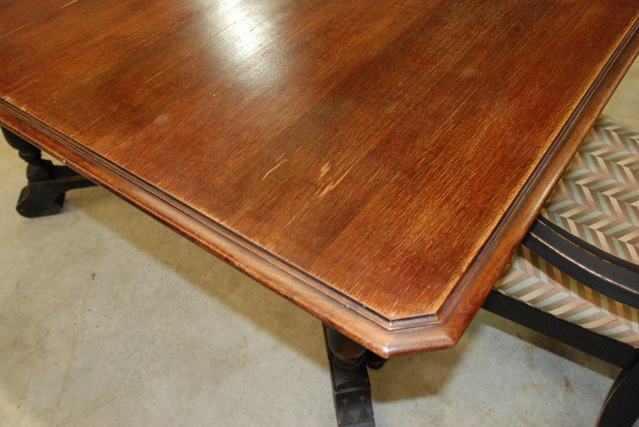 antique black dining table images